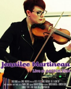 Jennilee Martineau - Live at AACNM 2014 Poster